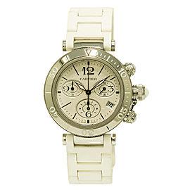 Cartier Pasha W3140005 3129 Stainless Steel Quartz 37mm Unisex Watch