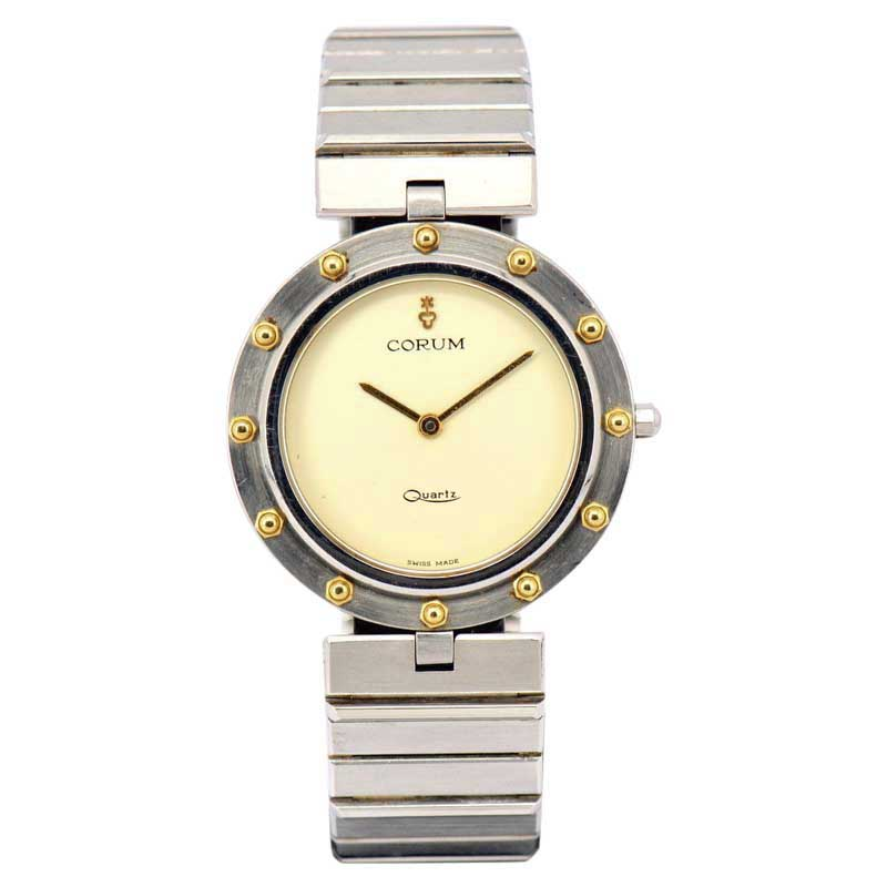 """Image of """"Corum Clipper Club 18K Yellow Gold / Stainless Steel Quartz Vintage"""""""