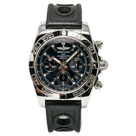 Breitling Chronomat AB0110 Stainless Steel & Rubber Blue Dial Automatic 43mm Mens Watch