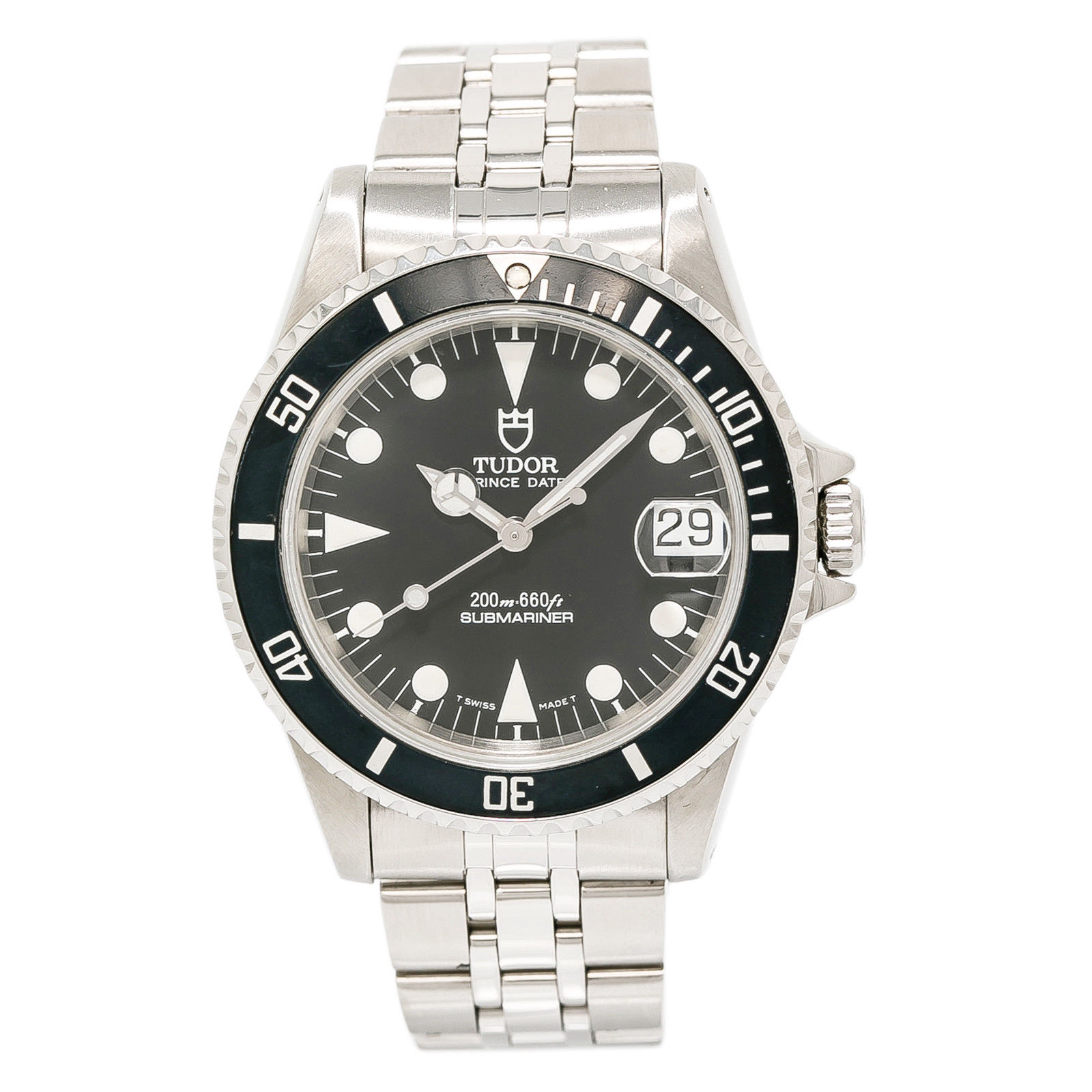 """Image of """"Tudor Prince Date Submariner 75190 Stainless Steel Black Dial"""""""