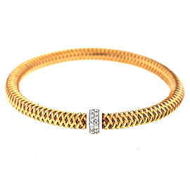 Roberto Coin Primavera 18K Rose Gold with 0.22ct. Diamonds Flexible Bangle Bracelet
