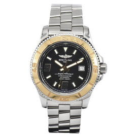 Breitling Superocean C17391 Stainless Steel / 18K Gold Automatic 44mm Mens Watch