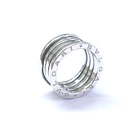 Bulgari B Zero 1 18K White Gold Ring Size 7.25