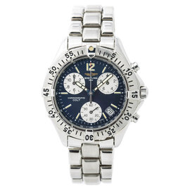 Breitling Colt Chronographe A53035 Stainless Steel with Blue Dial Quartz 38mm Mens Watch