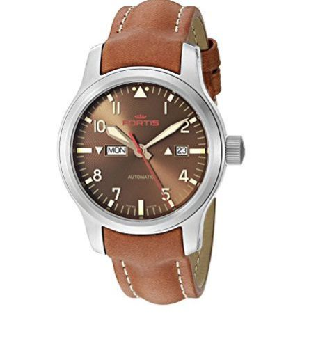 "Image of ""Fortis B-42 Aeromaster 655.10.18 L.08 Stainless Steel Brown Dial"""