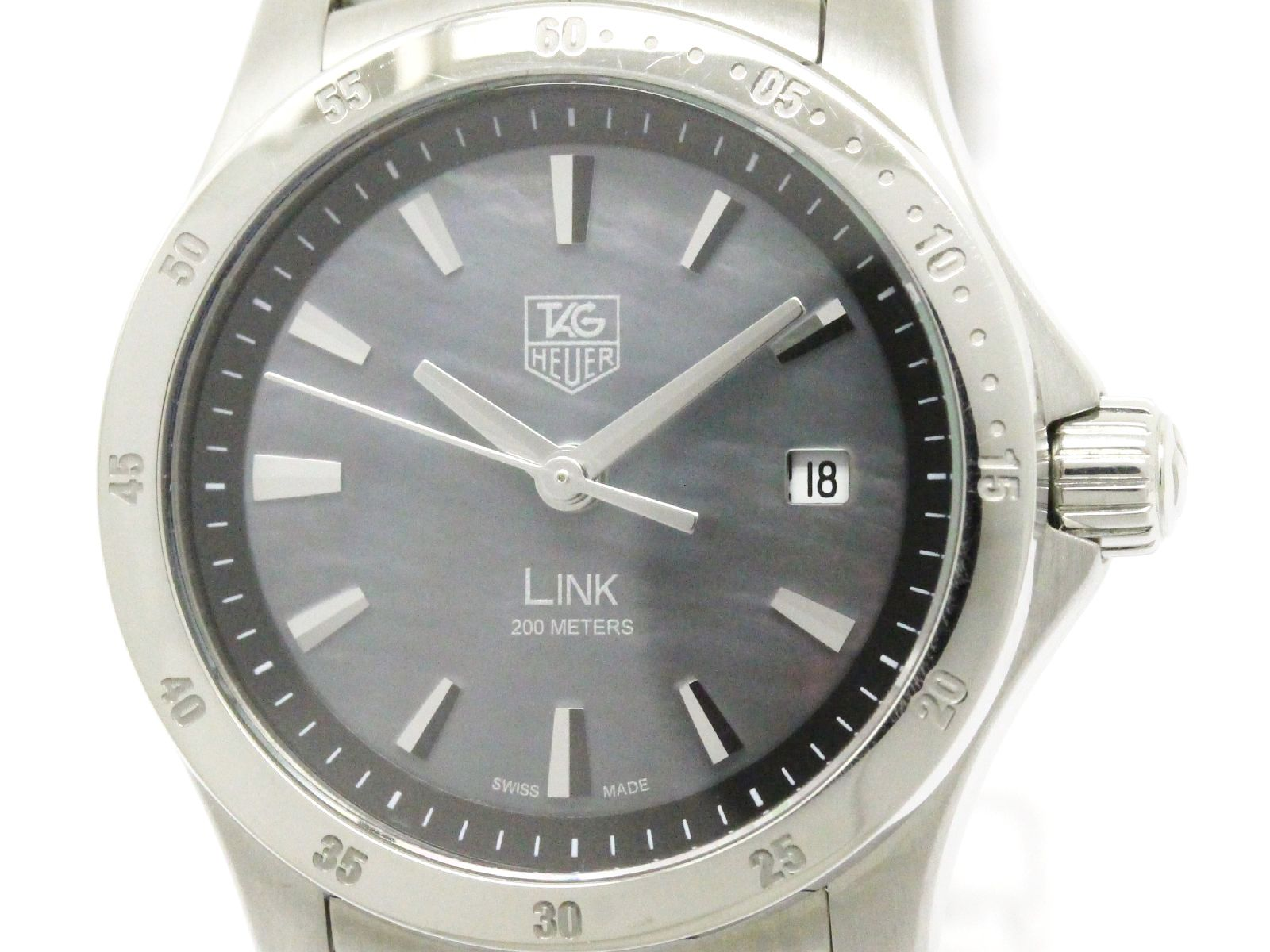 """Image of """"Tag Heuer Link Moon Stainless Steel Quartz 27mm Womens Watch"""""""