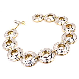 Tiffany & Co. Paloma Picasso 18K Yellow Gold & Sterling Silver Magic Disk Reversible Bracelet