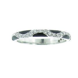 Hidalgo Diamond & Black Enamel Ring