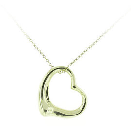 Tiffany & Co 18k Gold Open Heart Pendant
