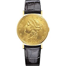 Vacheron Constantin Metiers D'art 33059/000J-0000 18K Yellow Gold & Leather 34.70 Mens Watch