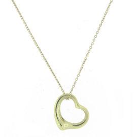 Tiffany & Co. Elsa Peretti Gold Open Heart Necklace