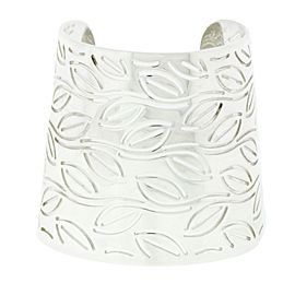 Enigma By Bulgari Sterling Silver Wide Leaves Bangle