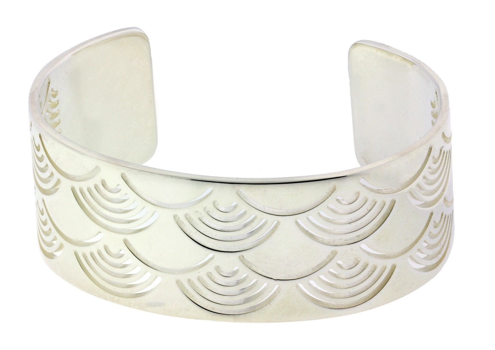 "Image of ""Enigma By Bulgari Sterling Silver Sun Bangle Size Large"""
