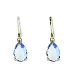Judith Ripka 18K Yellow Gold, Sterling Silver & Blue Quartz Earrings