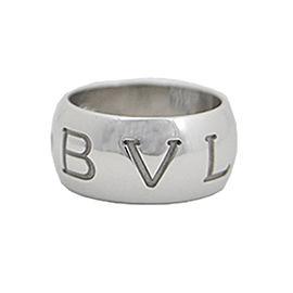 Bvlgari 18k White Gold Ring Size 7.5