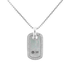 David Yurman Mother of Pearl and Diamond Pendant