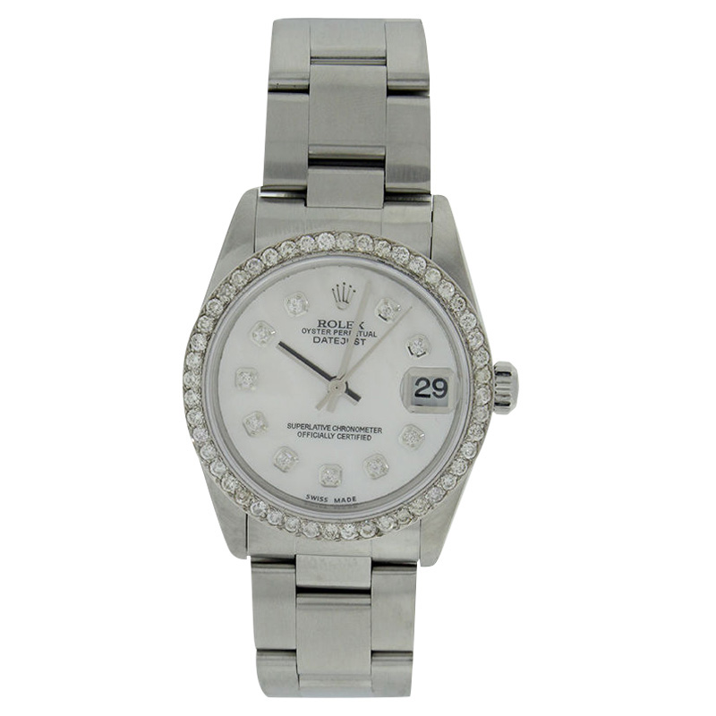 """Image of """"Rolex Datejust 78240 Stainless Steel Mother Of Pearl Diamond Dial &"""""""