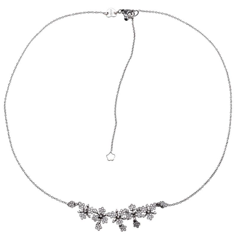 """""""""""Pasquale Bruni Prato Fiorito 18K White Gold Diamond Flower Necklace"""""""""""" 50920"""