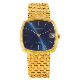 Vacheron Constantin 7391 Automatic 18K Yellow Gold Blue Dial Watch