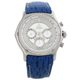 Ebel 9137241 Le Modulor Automatic Chronograph Blue Strap Steel Watch