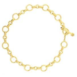 Elizabeth Locke 19K Yellow Gold Link Neckalce