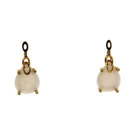 Chimento 18K Rose Gold Diamond and Rose Quartz Earrings