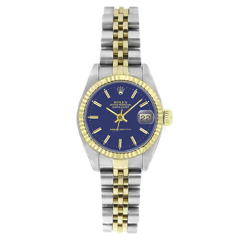"""Image of """"Rolex Datejust 6917 Stainless Steel & Gold Blue Stick Dial 18K Gold"""""""