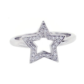 Tiffany & Co. Platinum and Diamond Star Ring