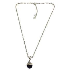 John Hardy Sterling Silver Black Onyx Necklace