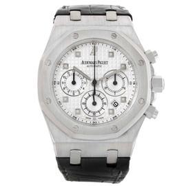 Audemars Piguet 26022BC.OO.D002CR.01 Royal Oak White Gold Chrono Watch