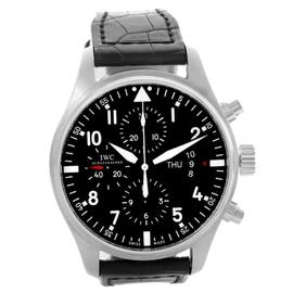 IWC Pilot IW377701 Black Dial Chronograph Automatic Mens Watch