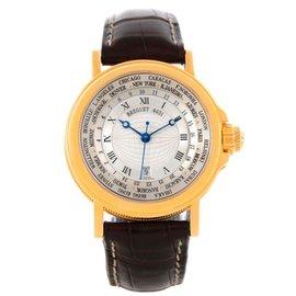 Breguet 3700 Marine Hora Mundi 24 World Time Zones Yellow Gold Watch