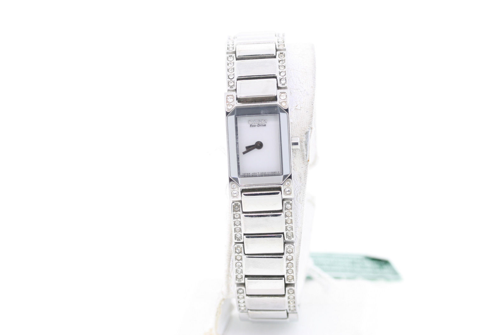 """Image of """"Citizen Eg2770-52A Stainless Steel & Crystal Accented 17mm Womens"""""""