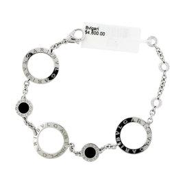 Bulgari Onyx 18K White Gold Bracelet