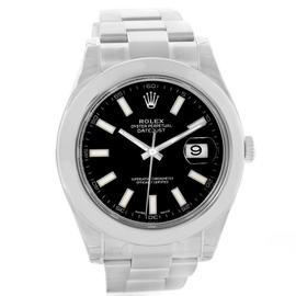 Rolex Datejust II 116300 Black Dial Steel Mens Watch
