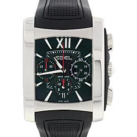 Ebel E9126M52 Brasilia Chronograph Black Dial Steel Automatic Mens Watch