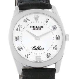 Rolex Cellini 4233 Danaos 18K White Gold Watch 2001