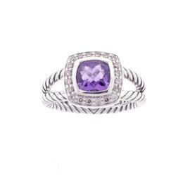 David Yurman Amethyst And Diamond Albion Ring