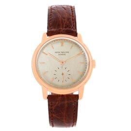 Patek Philippe 2484 Calatrava 18K Rose Gold Mechanical Mens Watch