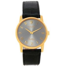 Rolex 5116 Cellini Classic 18K Yellow Gold Slate Dial Unisex Watch