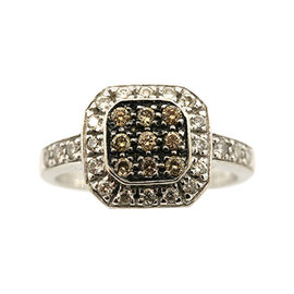 Levian 14K White Gold Square Shape Chocolate Diamond Ring Band