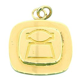 Tiffany & Co. 18K Gold On Sterling Silver Disc Charm Pendant