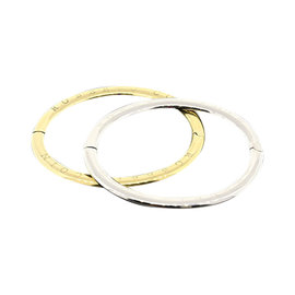 Roberto Coin 18k Yellow or White Gold Oval Bangle Bracelet