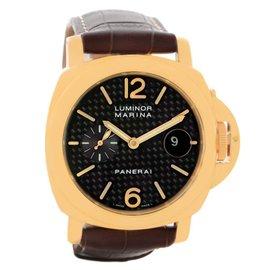 Panerai Luminor PAM140 PAM00140 Marina 18K Yellow Gold 44mm Mens Watch