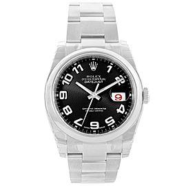 Rolex Datejust 116200BKCAJ Steel Black Concentric Dial Mens Watch