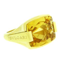 Bulgari Citrine In 18K Yellow Gold Ring