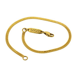 Gucci 14K Yellow Gold Herringbone Chain Bracelet