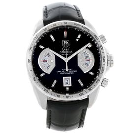 Tag Heuer CAV511A Grand Carrera Black Leather Strap Automatic Mens Watch