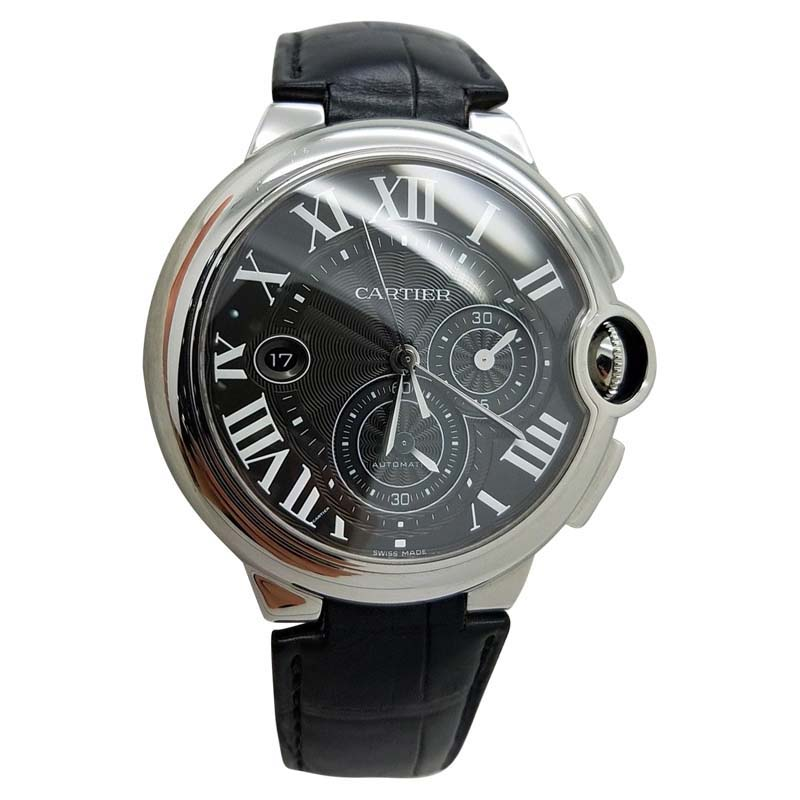 Cartier Ballon Bleu Chronograph 3109 – W6920052 Black Roman Stainless