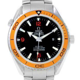 Omega Seamaster 2208.50.00 Planet Ocean XL Orange Bezel Mens Watch